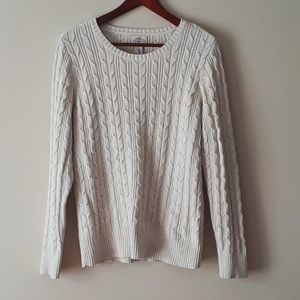 💥St. John's Bay Cream Cable Knit Sweater💥